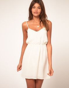 So cute...maybe for the rehearsal dinner with a cute cardigan and flats.