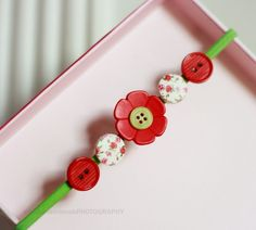 spring flowers (button head band)
