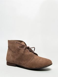e5f66093e17 Breckelle s SANDY-61 Women Classic Lace Up Flat Desert Ankle Boot Bootie  Shoe