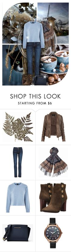 """Blue & Brown! - Contest!"" by asia-12 ❤ liked on Polyvore featuring AllSaints, Hudson Jeans, Barbour, Topshop, Tommy Hilfiger, MICHAEL Michael Kors and Marc Jacobs"