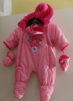 Baby & Toddler Clothing Reasonable Okie Dokie Pink Fleece Lined Footed Snowsuit With Mittens Size 6 9 Months Outerwear