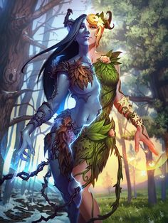 A GORGEOUS art of a female. A druid? A forest elf? A wood nymph?