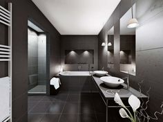 Apartments: Black Color Theme Minimalist Style, home design, star wars rooms, living room ~ PEDANTIQUE