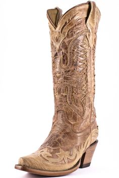 Corral Women s Distressed Cognac Cowgirl Boots 673dacc9ac9