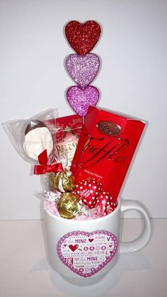 Be Mine Mug Substitutions of equal or greater value may be made depending on season and availability. This design available in the greater Springfield delivery area only. Valentine's Day Flower Arrangements, Gift Baskets, Valentines Day, Seasons, Mugs, Tableware, Flowers, Gifts, Design