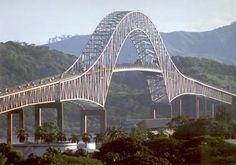 Puente de las Americas, Panama, Bauzeit: 1959-62, Gesamtlänge 1669 m.