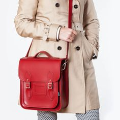 Red city backpack #zatchels #fashion #city #style