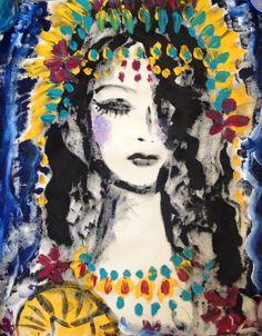 Iemanja rainha do mar iemanjá, oxum, art, painting, fashion, moda, woman, jazz, arte, abstract, design, interiordesign, quadro, wall, artist, brazil