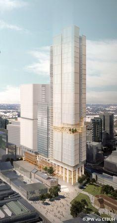 8 Parramatta Square - The Skyscraper Center Mix Use Building, Tower Building, High Rise Building, Building Art, Building Facade, Building Design, Futuristic Architecture, Concept Architecture, Amazing Architecture