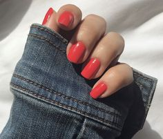 #ShesABadMuffuletta is a spicy #red, with hints of orange. This ain't your mama's muffuletta 🔥 @_socialportfolio Summer Acrylic Nails, Summer Nails, Interview Nails, Long Lasting Nail Polish, Manicure And Pedicure, Pedicures, Nail Time, Red Nail Polish, Opi Nails