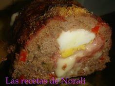 Pan de Carne Relleno | Las Recetas de Norali Kitchen Queen, Empanadas, Relleno, Meatloaf, Keto Recipes, Food And Drink, Tasty, Meals, Dishes