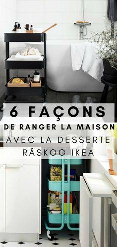 6 Façons Très Astucieuses de Ranger la Maison avec la Desserte RÅSKOG IKEA Ikea Hack, Ikea Raskog, Ikea, Raskog, Furniture, Home Organization, Home, Ikea Co, Home Decor