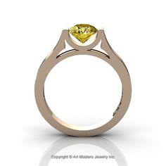 Modern 14K Rose Gold Beautiful Wedding Ring or by DesignMasters, $299.00