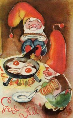Julekort Elbjörg Øien Moum u Oppi brukt 1940-tallet Christmas Postcards, Christmas Cards, Scandinavian Christmas, Norway, Winter, Painting, Art, Christmas E Cards, Winter Time