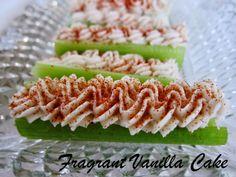 "Raw ""Cheese"" Stuffed Celery from Fragrant Vanilla Cake"