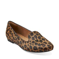 Valley Lounge in Tan Leopard - Womens Shoes from Clarks. <~~~ just picked up these babies on 9.2.2013 and they're so comfy. glad Clarks is being more fashion forward.