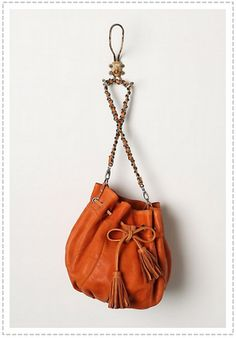 Chanel-style chain strap pouch from anthro.