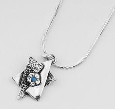 f60036561 Shablool Didae 925 Silver 2mm Blue Opal Pendant Necklace For Women Silver  Pendant Necklace, Sterling
