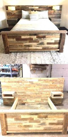Wunderbare Holzpaletten-Bettprojekte Wonderful wooden pallet bed projects, Related posts: DIY Pallet Projects {The BEST Reclaimed Wood Upcycle Ideas} 150 Best DIY Pallet Projects and Pallet Furniture Ideas Diy Pallet Bed, Wooden Pallet Projects, Wooden Pallet Furniture, Diy Furniture, Wooden Pallets, Pallet Wood Bed Frame, Wooden Bed Frame Diy, Pallet House, Pallet Patio
