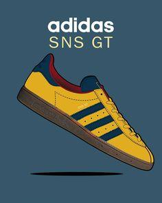 Adidas Og, Adidas Retro, Vintage Adidas, Adidas Shoes, Adidas Classic Shoes, Shoe Poster, Casual Art, Football Casuals, Adidas Originals