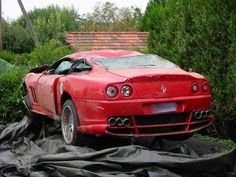 Cars: Abandoned Legends Ferrari Automotive-I will park this in my living room if I don't have the money to fix it. Abandoned Cars In Dubai, Abandoned Train, Abandoned Factory, Car Barn, Rusty Cars, Ferrari Car, Train Car, Barn Finds, Car Wallpapers