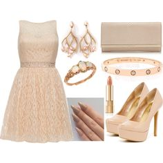 Complete The Outfit by deedee-pekarik on Polyvore featuring мода, Quiz, Jessica Simpson, Jimmy Choo, Cartier, Shaun Leane, Trilogy, clutches, pastel and nude