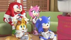 """""""Team Sonic gains an unlikely new ally when Eggman's plans once again go wrong. But is it friend or fiend…bot? Catch Sonic Boom tomorrow at 6pm on Boomerang."""""""