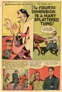 """Forgotten masterpiece: Long before the Fourth World… """"The Fourth Dimension Is a Many Splattered Thing"""" by Jack Kirby, from Alarming Tales #1, published by Harvey Comics, September 1957."""