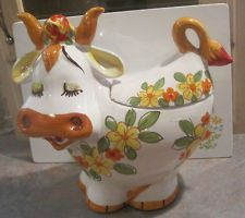 Vintage Lefton Bossie the Cow Cookie Jar - Made in Italy