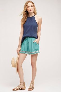 Anthropologie Embroidered Isle Shorts NEW by Hei Hei #Anthropologie #CasualShorts