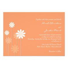 Invitación del boda de la margarita de la mandarin
