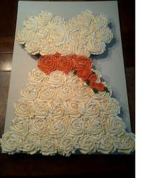 cupcake wedding dress cake   SweetBitesbyBrandi