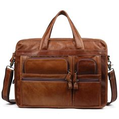 4a98d41e1b04 Ekphero Vintage Genuine Leather Large Capacity Business Crossbody Bag For  Men is hot-sale