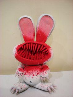 vampire bunny sculpture by richardsymonsart.deviantart.com
