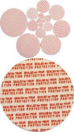 made in USA 53 mm Press /& Seal Safety Liners 500 bag JAR Tamper foam seal