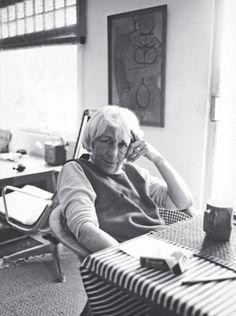 Esther McCoy in her Santa Monica home, 1985
