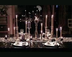 I love this! All the candles remind me of how Im decorating for my Sweet Sixteen.