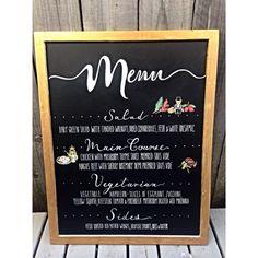 Dinner Menu Chalkboard Sign by LeftyLadyChalkShop on Etsy
