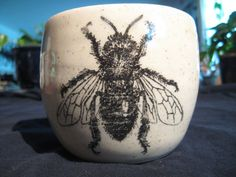 Drone bee mug by PirateRosePottery on Etsy, $38.00