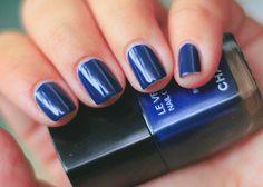 Dark Blue Nails.