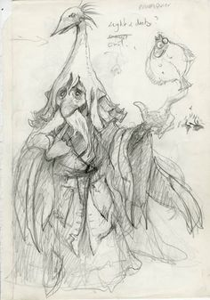 Lost Labyrith concept drawings by Brian Froud