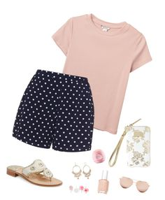 """""""Untitled #37"""" by haleyrharris on Polyvore featuring Monki, Zizzi, Jack Rogers, Lilly Pulitzer, Carolee, Essie, Eos, Linda Farrow and Accessorize"""