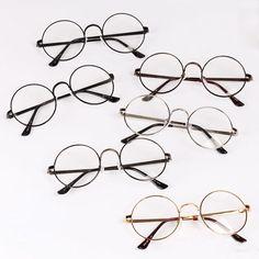 373ef186cb8 Hot Unisex Women Men Plain Glasses Vintage Round Eyeglasses Frame Spectacle
