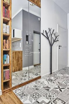 Puzzle Hallway - a modern style - online jigsaw puzzle games. Play free jigsaw puzzle Hallway - a modern style. Home Entrance Decor, House Entrance, Home Decor, Home Interior Design, Interior And Exterior, Interior Decorating, Foyer Staircase, Living Etc, Bedroom Cupboards