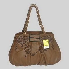 Fendi First Choice for The Season 2295 Brown Dark Brown Flowers