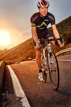 Cyclist enjoying the ride at sunset on Spanish mountain road. Lifestyle Photography, Cycling, Spanish, Mountain, Passion, Bike, Explore, Sunset, Studio