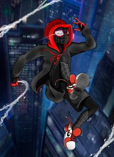 Spider-Man crosses parallel dimensions and teams up with the Spider-Men of those dimensions to stop a threat to all reality. Miles Spiderman, Spiderman Girl, Miles Morales Spiderman, Spiderman Spider, Amazing Spiderman, Spiderman Drawing, Marvel Vs, Marvel Dc Comics, Comics Anime