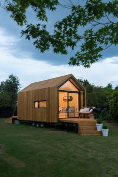 Nook (by Nook Tiny House) in New Zealand - tiny citizens - architecture and . - Nook (by Nook Tiny House) in New Zealand – tiny citizens – architecture and art - Best Tiny House, Modern Tiny House, Tiny House Cabin, Tiny House Living, Tiny House Design, Tiny House On Wheels, Small House Plans, Tiny Guest House, Wood House Design