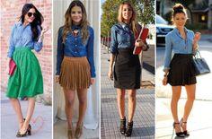 camisa-jeans-com-saia-blog-clubedabru