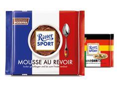 Die RITTER SPORT Fake-Sorte Mousse Au Revoir zur EM 2016.